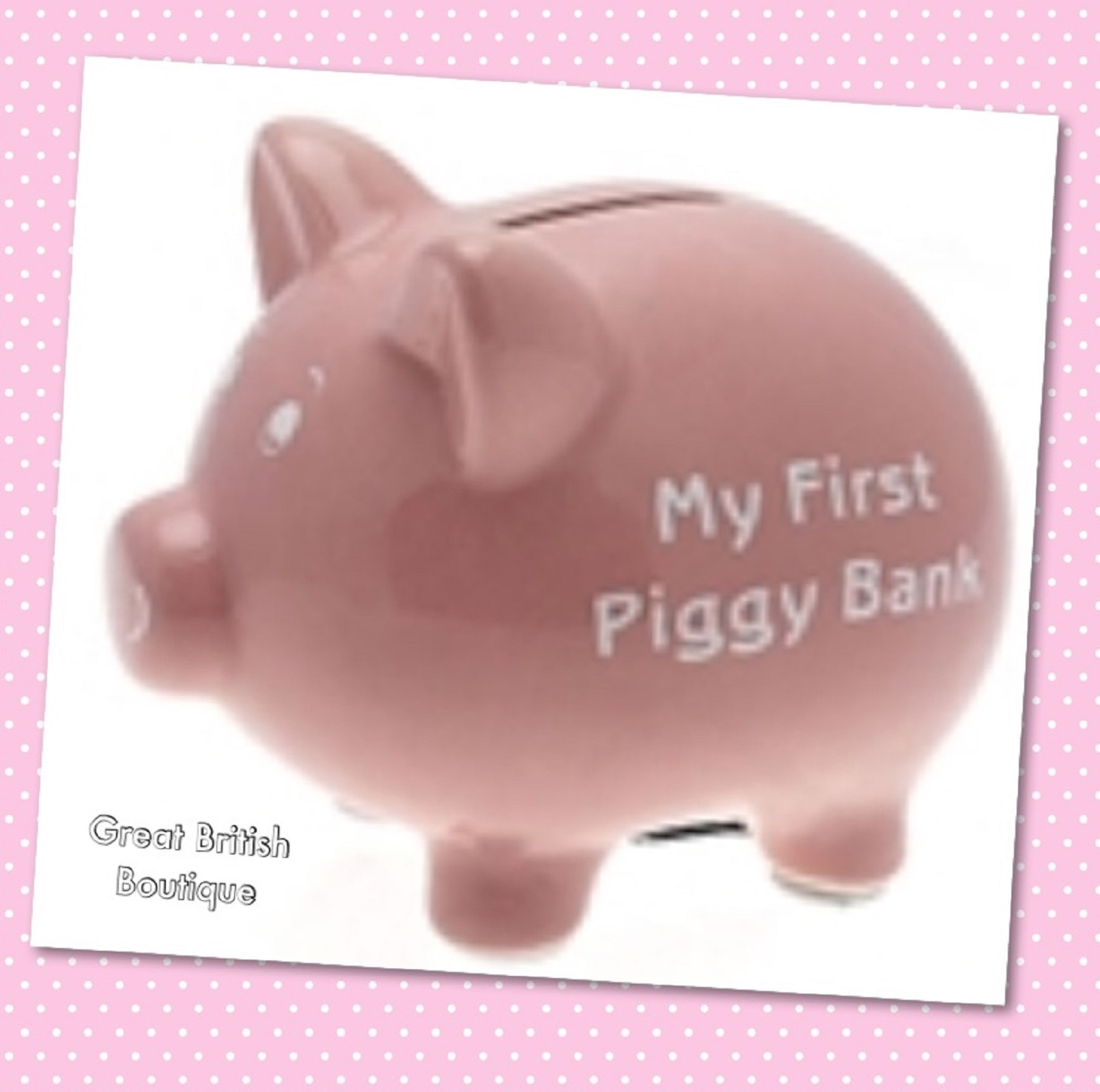 Perfect Pink My First Piggy Bank Great Baby Gift Free Uk